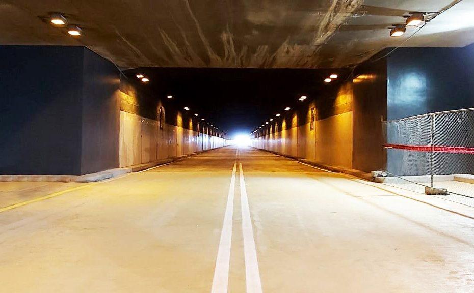 Una semana antes de lo planificado se entrega el nivel inferior del viaducto de la 24 de Mayo, repavimentado y con resina protectora.