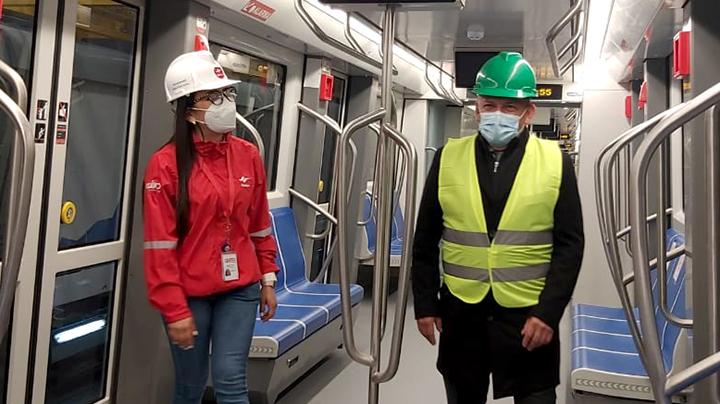 El 18 de febrero se realizó una visita técnica junto a la ANT como parte del proceso de homologación de los trenes del Metro de Quito.
