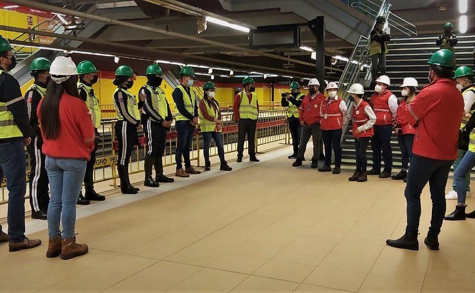 El 19 de mayo representantes de la AMT, liderados por su director, participaron en una visita guiada por la estación San Francisco.