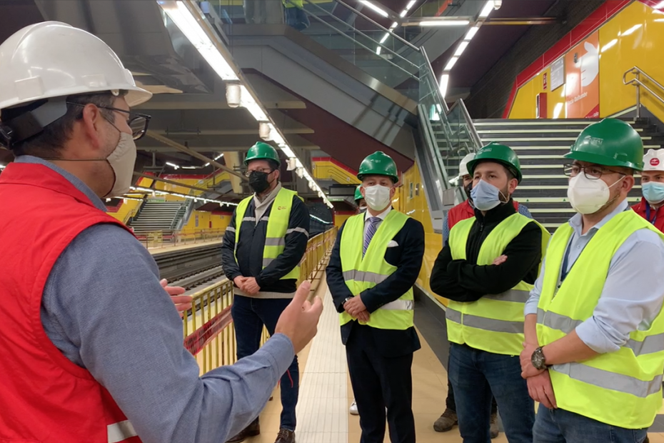 Autoridades de la ANT, Secretaría de Movilidad y AMT realizaron un recorrido técnico por la estación San Francisco para integrar el trabajo.