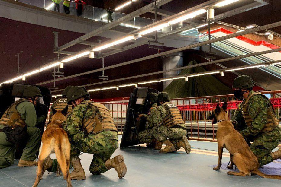 El 7 de octubre se llevó a cabo un simulacro de respuesta ante un ataque terrorista en la estación Magdalena del Metro de Quito.